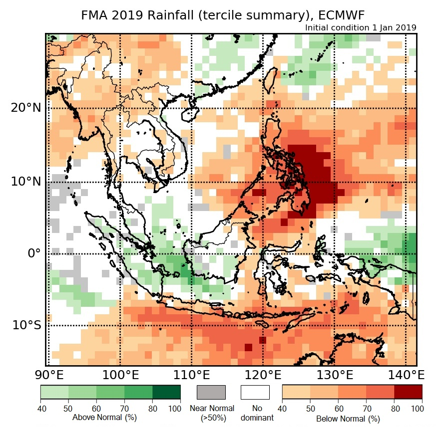 Rainfall anomaly of ECMWF model.